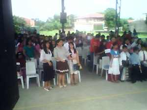 A fraction of the big crowd that came during our 10th Foundation Day December of 2008