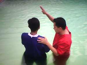Baptizing my own fruit Jeff Saquilayan on October of 2008.