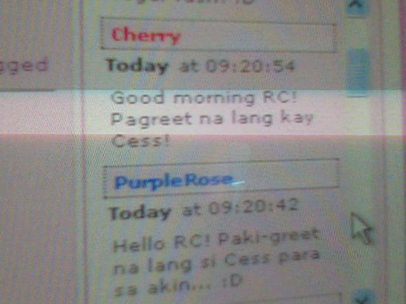 TMR Forum Administrator Ms. Cherry and Global Moderator Purplerose sending back-to-back b-day greets for Cess