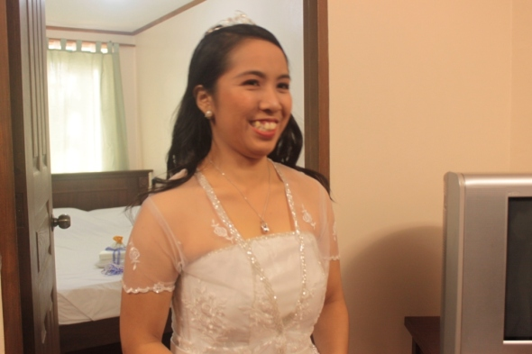 gown expert who personally handcrafted cess wedding gown thanks ma